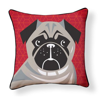 Duque Pug Pop Art Indoor/Outdoor Throw Pillow