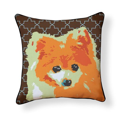 Durazo Pomeranian Pop Art Indoor/Outdoor Throw Pillow