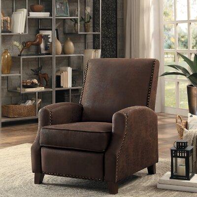 Falnaglass Push Back Manual Recliner Upholstery: Brown