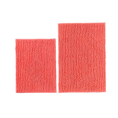 Mattocks Bath Rug Set Color: Coral