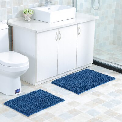 Mattocks Bath Rug Set Color: Blue
