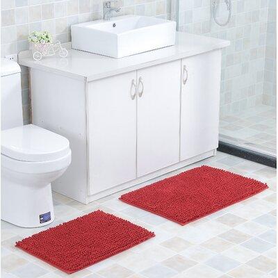 Mattocks Bath Rug Set Color: Red