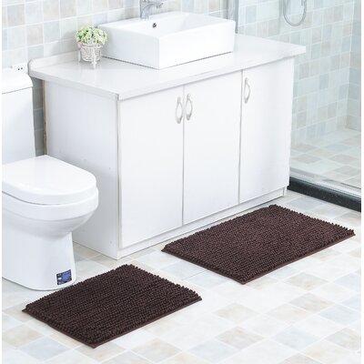 Mattocks Bath Rug Set Color: Brown