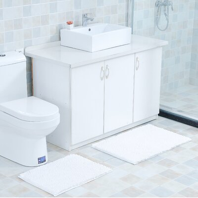 Mattocks Bath Rug Set Color: White