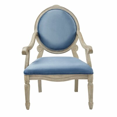 Bayliss Armchair Upholstery: Blue, Finish: Natural