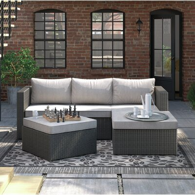 Hammontree Patio Sectional with Cushions