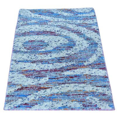 One-of-a-Kind Mease Oriental Hand-Knotted Silk Area Rug