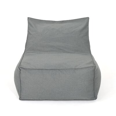 Outdoor Water Resistant Bean Bag Lounger Upholstery: Dark Gray