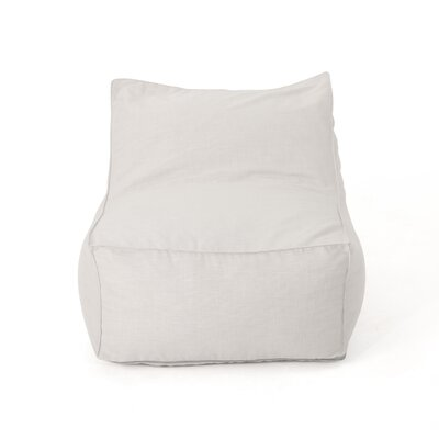 Outdoor Water Resistant Bean Bag Lounger Upholstery: Khaki