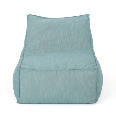 Outdoor Water Resistant Bean Bag Lounger Upholstery: Teal