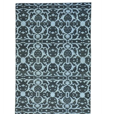 Killim Reversible Oriental Flat Weave Hand-Knotted Cotton Black Area Rug