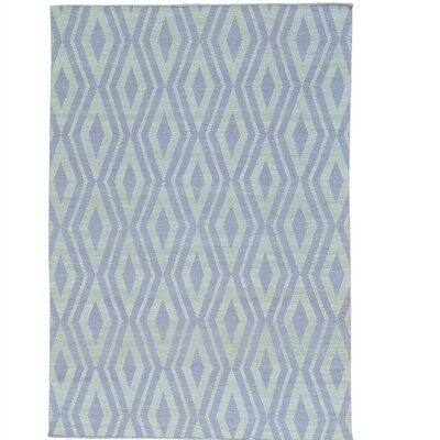 Reversible Flat Weave Killim Oriental Hand-Knotted Cotton Ivory Area Rug Rug Size: Rectangle 52 x 73
