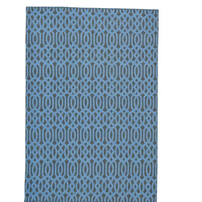 Reversible Flat Weave Oriental Kilim Hand-Knotted Cotton Black Area Rug
