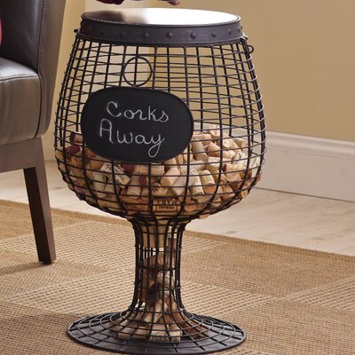 Wine Glass Cork End Table