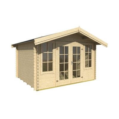 330 cm x 280 cm Gartenhaus Robin | Garten > Gartenhäuser | Beige | Massivholz | Lasita Maja