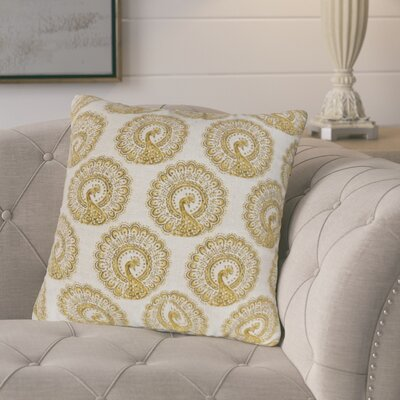 Turton Contemporary Throw Pillow Color: Yellow, Size: 18 x 18