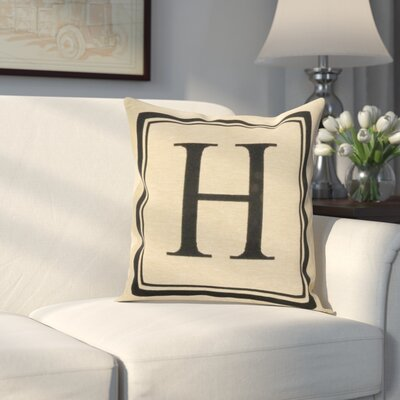 Beaver Creek Monogram Throw Pillow Letter: H