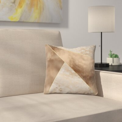 Trendy Triangle Throw Pillow Size: 14 x 14