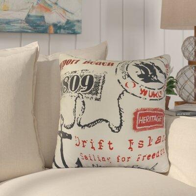 Dinger Newport Beach Cotton Throw Pillow