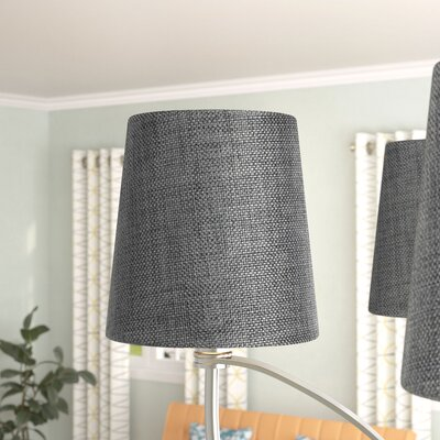 Dywer Contemporary 5.5 Burlap Drum Candelabra Shade Color: Granite Gray