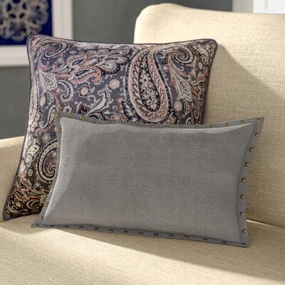 Diane Lumbar Pillow Color: Pewter