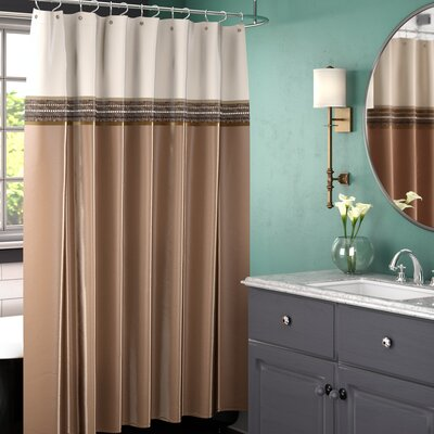 Culpeper Shower Curtain Color: Beige / Ivory
