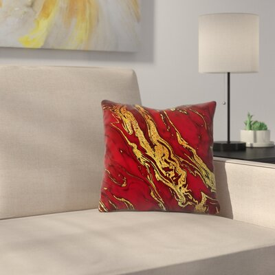 Luxury and Glitter Gem Agate and Marble Texture Throw Pillow Size: 14 x 14