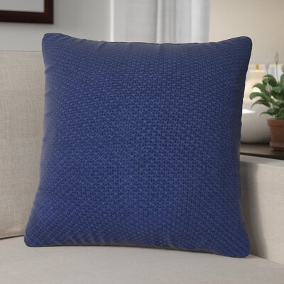 Kensington Moss Knit Cotton Throw Pillow Color: Dark Denim