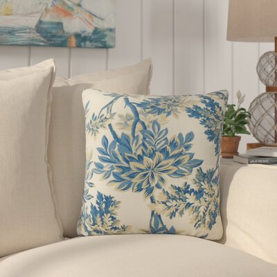 Haeli Floral Down Filled 100% Cotton Throw Pillow Size: 22 x 22, Color: Calypso