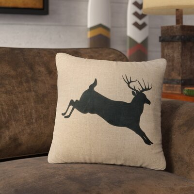 Nakayama Jumping Deer Throw Pillow Color: Natural