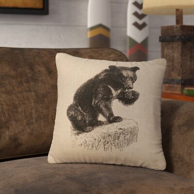 Nailwell Bear Cub Throw Pillow Color: Natural