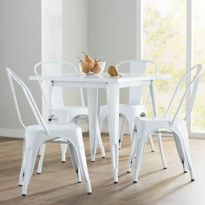 Betsey 5 Piece Dining Set Finish: White