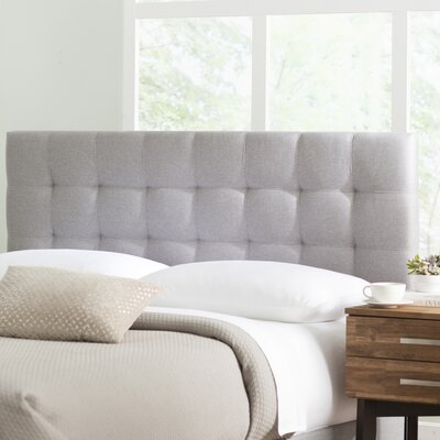 Decker Upholstered Panel Headboard Size: Full/Queen, Upholstery: Glacier Gray