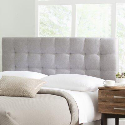 Decker Upholstered Panel Headboard Size: Full/Queen, Upholstery: Glacier Gray