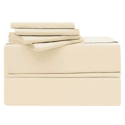 Luxury 6 Piece 620 Thread Count 100% Cotton Sheet Set Size: Queen, Color: Ivory