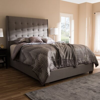 Holter Upholstered Panel Bed Color: Gray, Size: Queen