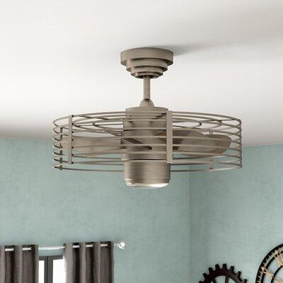 23 Glasgow 7 Blade Ceiling Fan with Wall Remote Finish: Satin Nickel