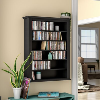 Single Wall Mounted Storage Rack Color: Black