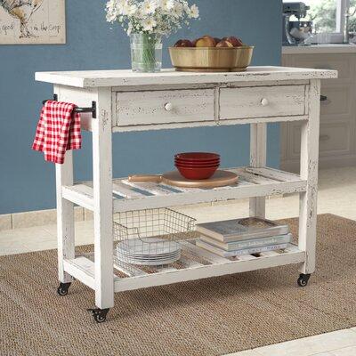 Bryn Kitchen Cart Base Finish: White