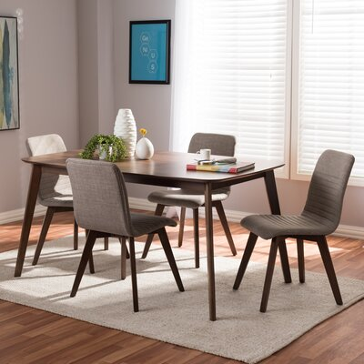 Critchfield 5 Piece Dining Set Color: Light Gray