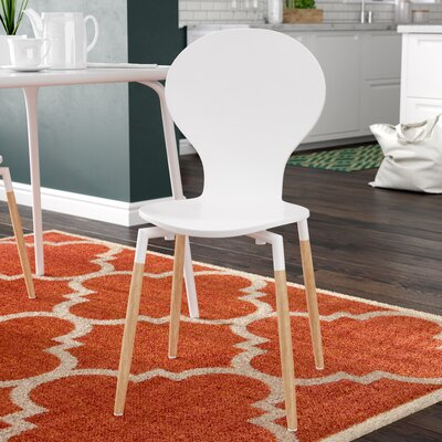 Downridge Solid Wood Dining Chair Finish: White