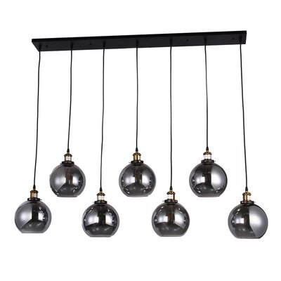 Daughtery 7-Light Linear Kitchen Island Pendant