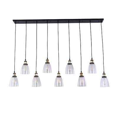 Wabansia Linear 9-Light Kitchen Island Pendant