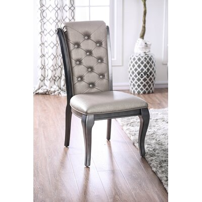 Lane Upholstered Dining Chair Upholstery Color: Silver Gray, Frame Color: Black