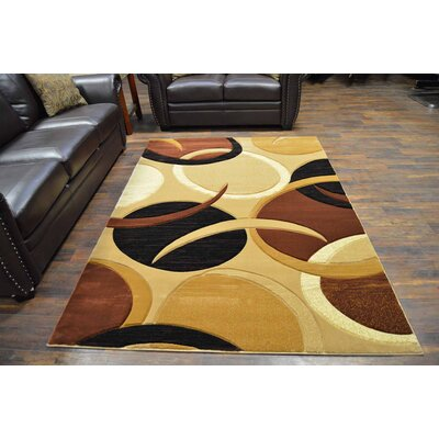 Mccampbell 3D Abstract Brown/Orange Area Rug