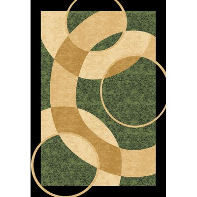 Mccampbell 3D Abstract Green/Beige Area Rug Rug Size: Rectangle 8' x 11'