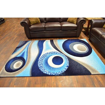 Mccampbell 3D Abstract Navy/Blue Area Rug Rug Size: Rectangle 5 x 7