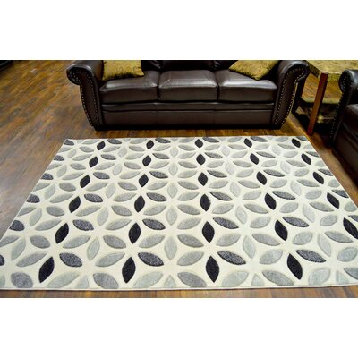 Eclipse 3D Modern Contemporary Gray Area Rug