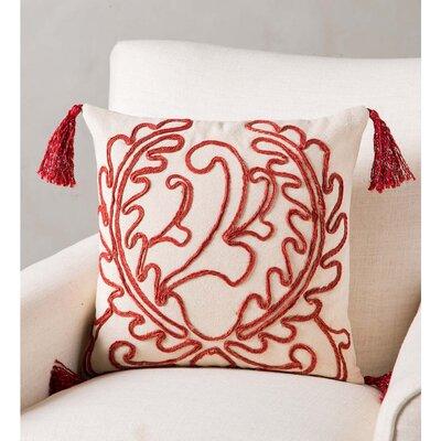 Frausto Handmade Red Jute Pillow Cover