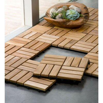 Customized 12 x 12 Teak Wood Look Tile in Brown